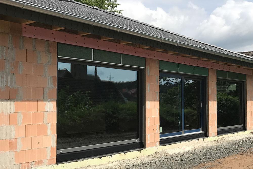 Fenster am Neubau